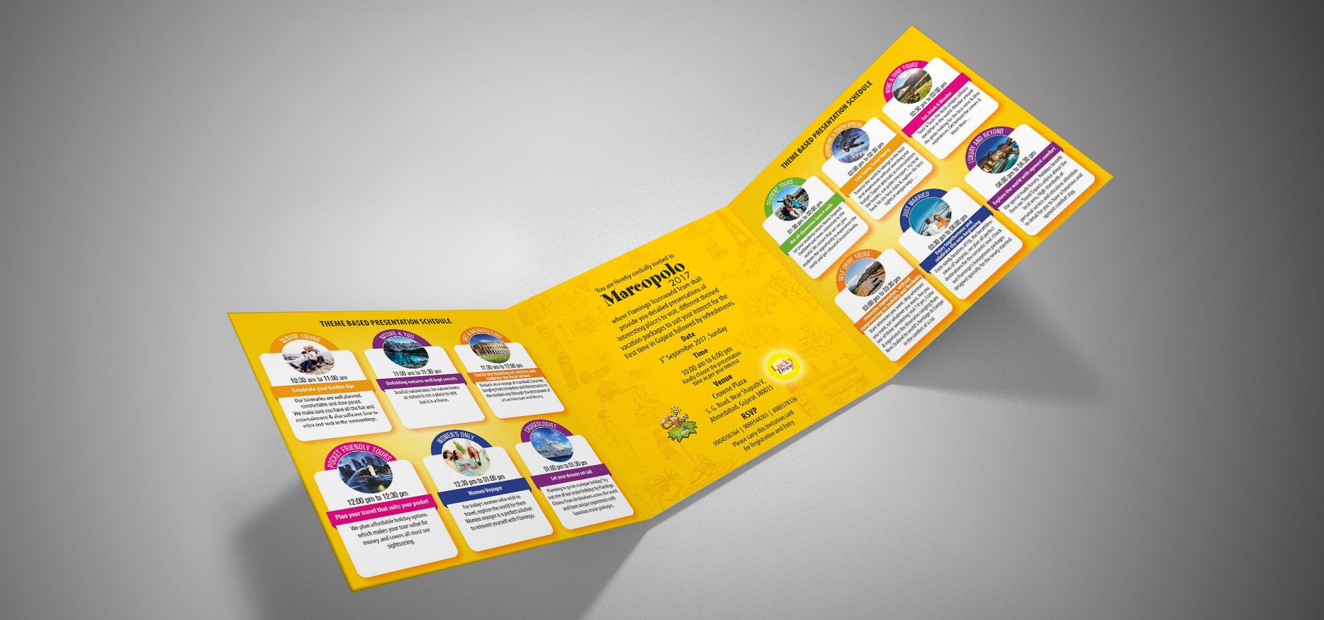 Flamingo Marcopolo Invitation Card inside